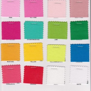 10 oz  Cotton Lycra  Jersey Colors Page 1