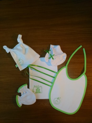 Apple ( Green) NewBorn Baby Boy Set- 5 Pcs Set