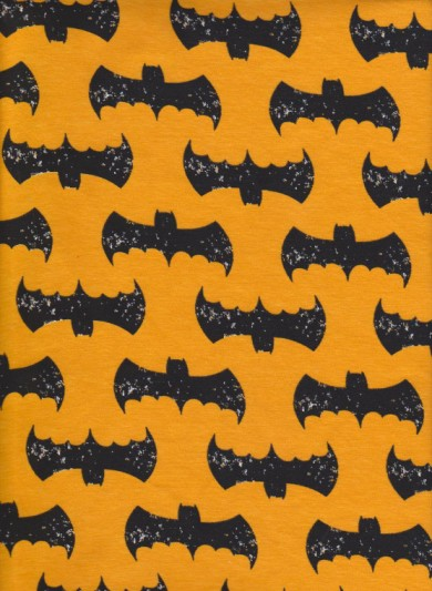 Batman on Yellow Cotton Lycra Jersey