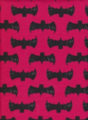 Batman on Fuchsia Cotton Lycra Jersey