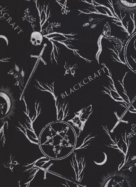 Black Craft on Black Cotton Jersey Knit