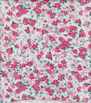 Baby Roses on White Rayon Lycra Jersey