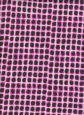 Square Dots on Fuchsia Cotton Lycra Jersey