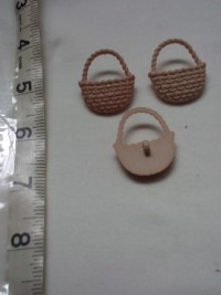 Braided Basket ( Light Brown)-Button