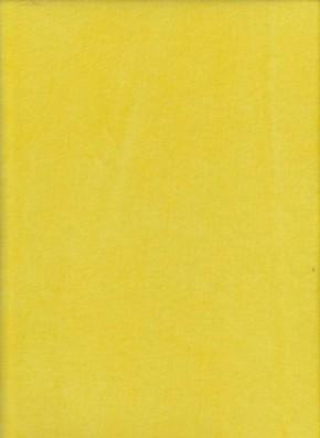 BRIGHT YELLOW Cotton Poly Velour