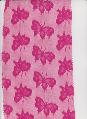 Butterfly on Fuchsia  Lace
