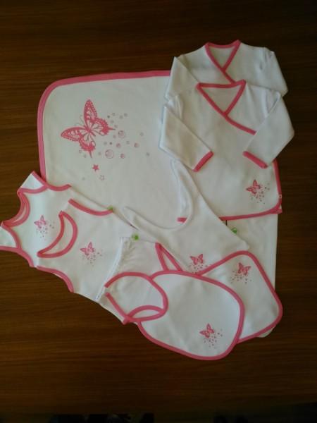 Butterfly (Pink) Newborn Baby Girl Set-10 Pcs Set