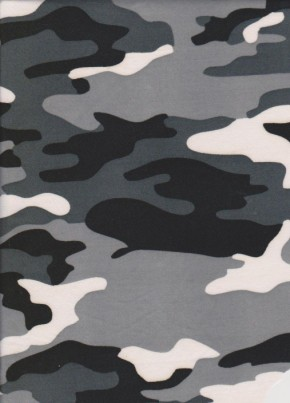 Camo ( Black-Gray-White ) on Double Brushed Poly Lycra Jersey
