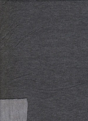 Charcoal Double Brushed French Terry