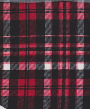 CHECKER- Red+Black+White on Rayon Poly Lycra Jersey