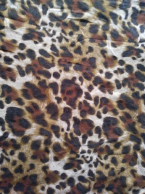 Cheetah Black and Brown on Cotton Lycra Jersey