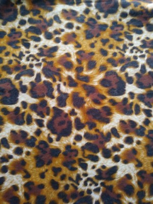 Cheetah  Brown on Cotton Lycra Jersey