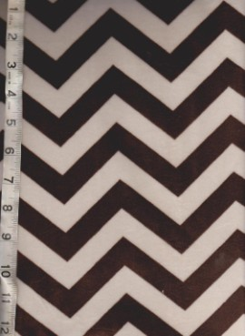 Chevron ( Brown and White) Minky -Great Quality!