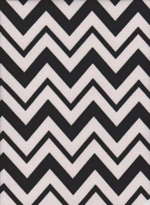 Chevron Black and Ivory on Liverpool