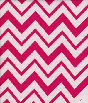 Chevron Fuchia and White on Liverpool