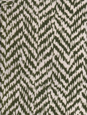 Chevron green and White on Rayon Poly Lycra Jersey