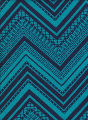 Checker - Teal  and Navy on Liverpool