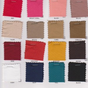 Double Brushed  Poly Lycra Solid Colors 1