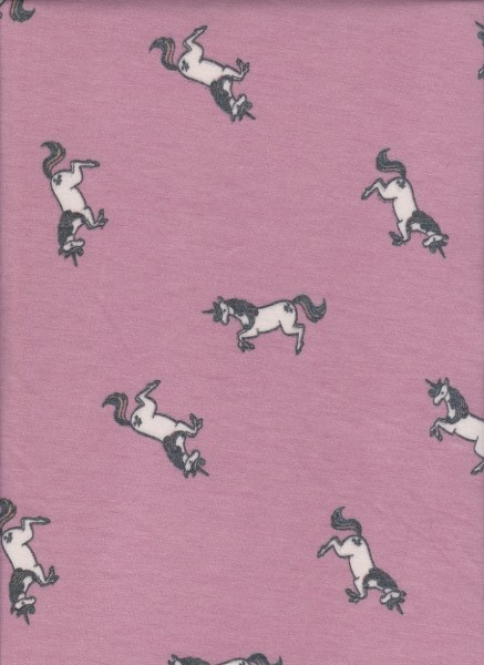 Horses  on  Rayon Poly Lycra French Terry