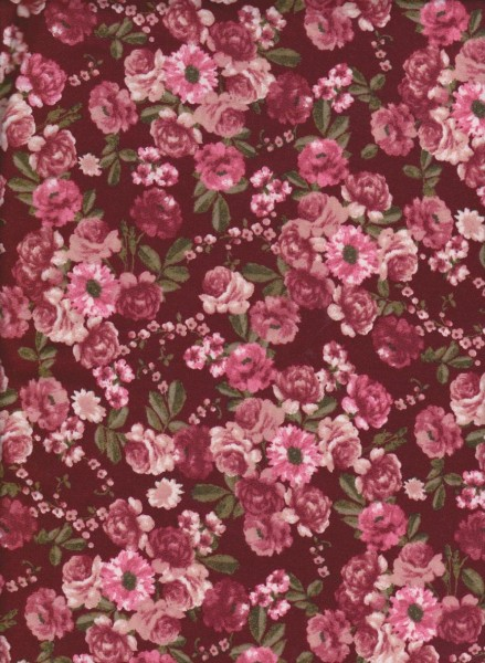 Baby Roses on Double Brushed Poly Lycra