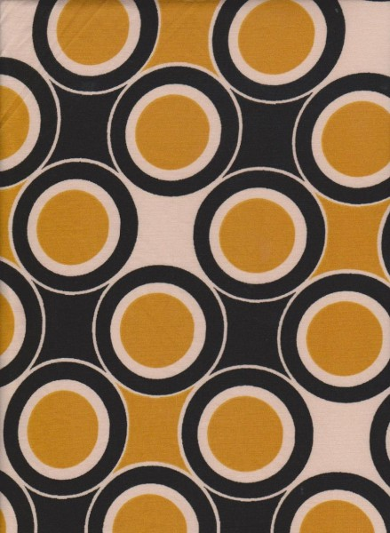 Trendy Geo- 60's Print on Double Brushed Poly Lycra