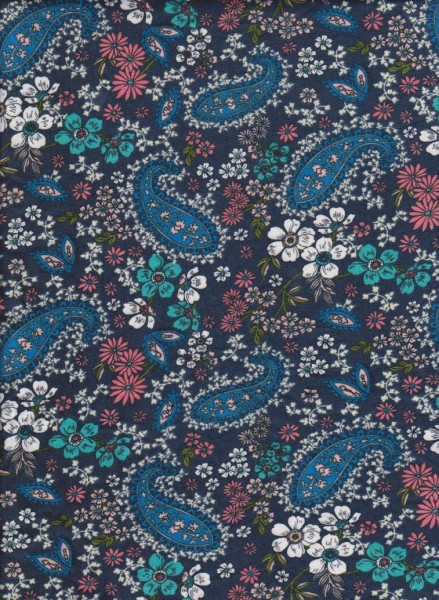 Trendy Baby Paisley on Double Brushed Poly Lycra