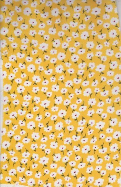 Ditsies on  Yellow Wool Dobby