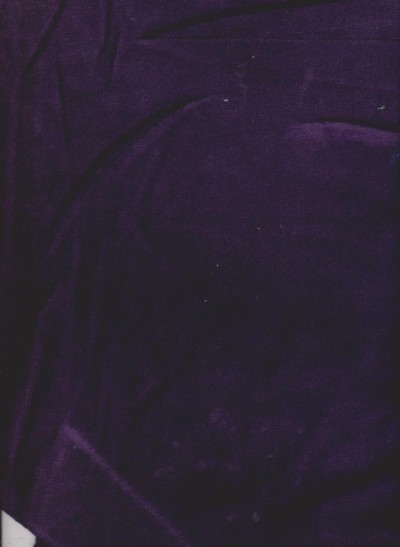 Dark Purple Cotton Poly Velour