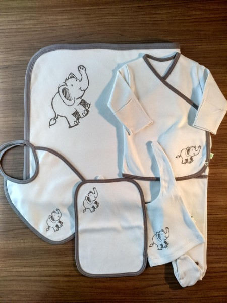 Elephant  NewBorn Baby Boy Set- 6 Pcs Set