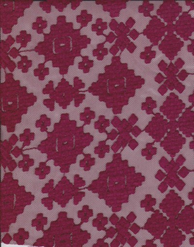 Embroidery Overall Lace Burgundy