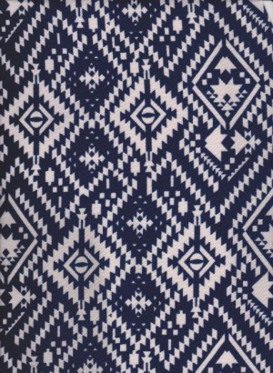 Ethnic Print Navy +White on Liverpool
