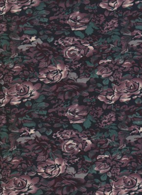 Fall Roses on Double Brushed Poly Lycra Jersey