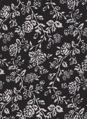 Florals on Black Liverpool