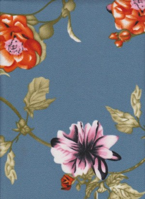 Florals on Blue Liverpool