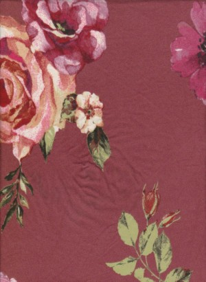 Florals 1  on Double Brushed Poly Lycra