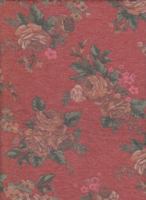 Florals on Rusty Rayon Lycra Jersey