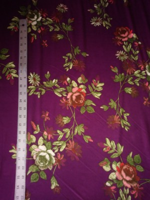 Florals on Wine Double Brushed Poly Lycra