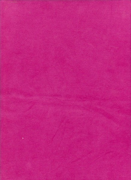 FUCHSIA Cotton Poly Velour