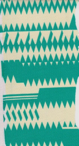 Geo Print Green  and Ivory on Liverpool