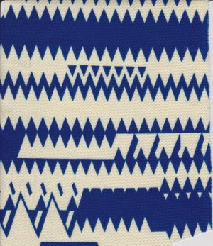 Geo Print Royal Blue and Ivory on Liverpool
