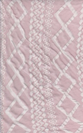 Geo Print on Pink Double Brushed Knit