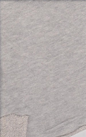Heather Gray Cotton Poly French Terry