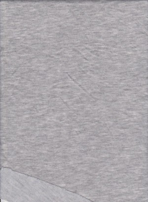 HEATHER GRAY  Double Brushed French Terry