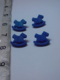Horses ( Blue)-Button
