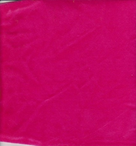 Hot Pink Cotton Poly Velour
