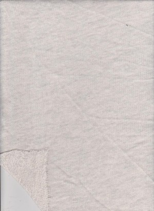 Ivory Cotton Poly Loose freench Terry