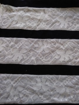 Lace and Black Stripe Double Knit