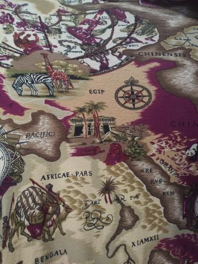 World Map on Cotton Lycra jersey