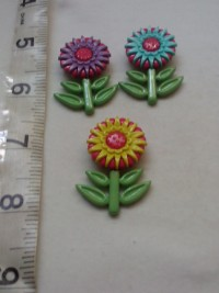 Multicolor Long Florals- Button