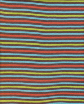 Multicolor Tiny Stripes on Yarndyed Cotton Lycra Jersey